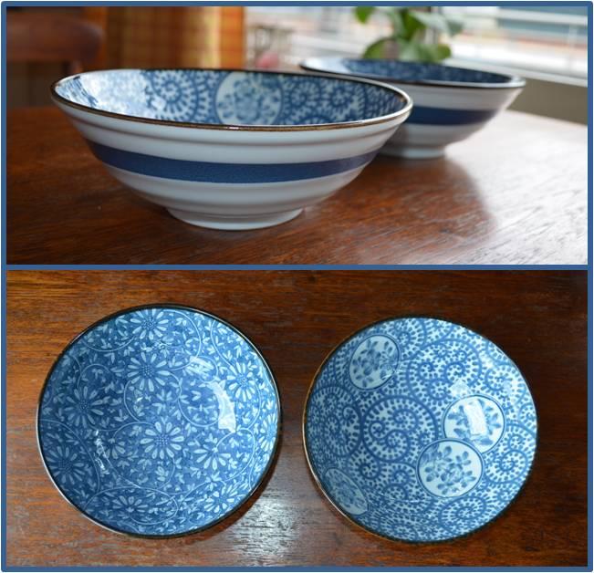 Vaisselle Bleue Vaisselle Japonaise Double Satisfaction Bien