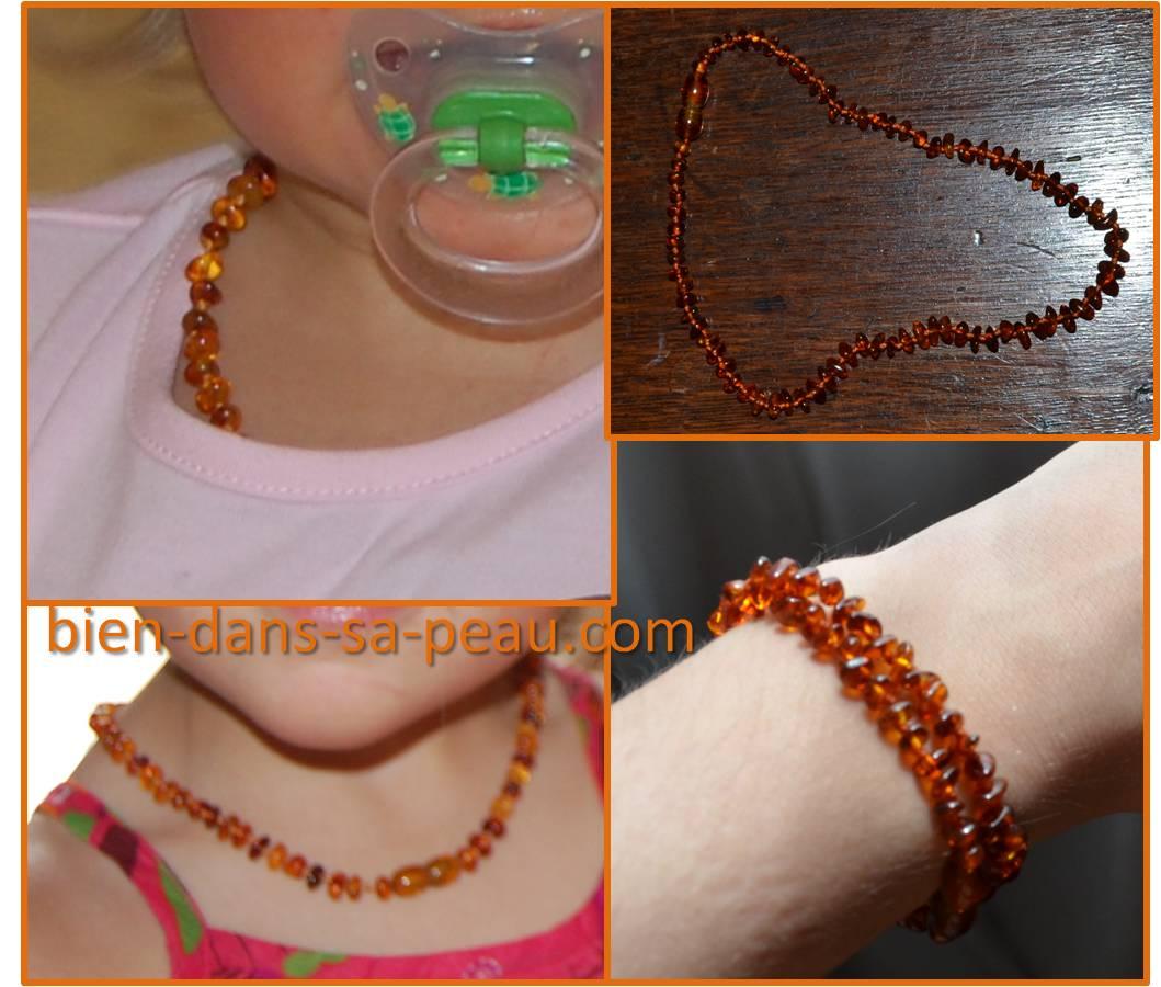 collier d'ambre pour les bebe