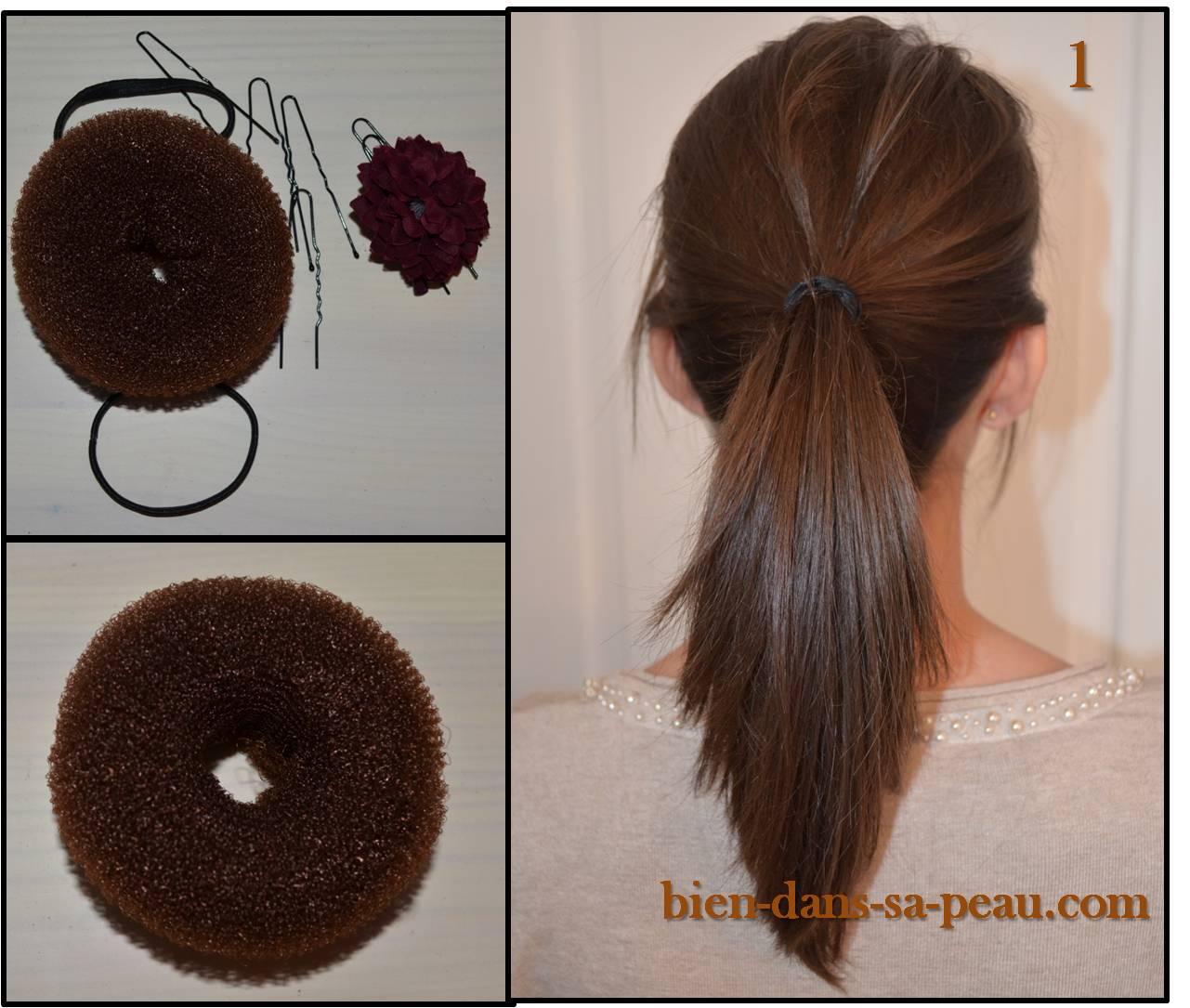 Accessoires cheveux chignon donut - Accessoire chignon facile ...