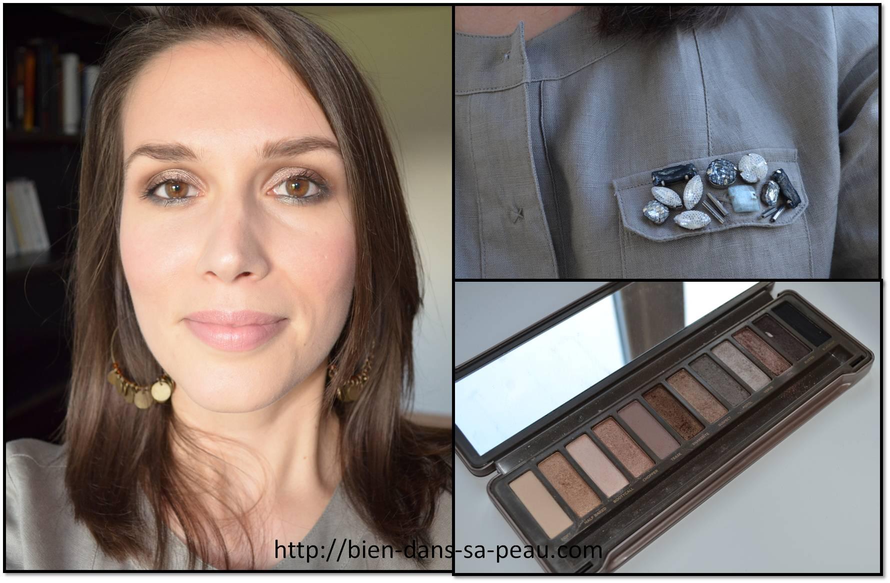 Très Maquillage de jour neutre avec la palette NAKED 2, Urban Decay  YC73